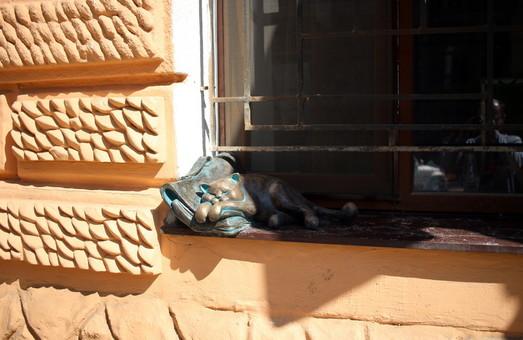 На окне Всемирного Клуба Одесситов снова появится кот Жванецкого