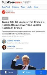 Крым российский или пару слов о говорливом Трампе