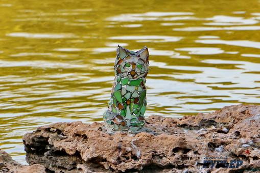 В Одессе установили стеклянного котика на острове (ФОТО, ВИДЕО)