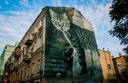 Мурал с изображением одесского кота с Дерибасовской уже готов (ФОТО)