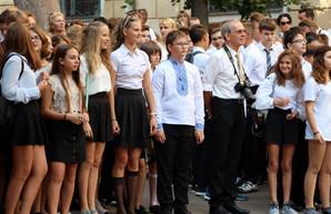 В Одессе для некоторых школьников начался учебный год (ФОТО)