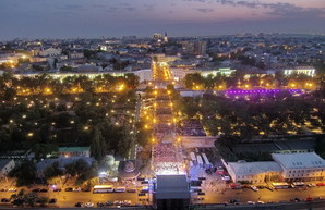 Приморский бульвар в Одессе в одной вечерней панораме (ФОТО, ВИДЕО)