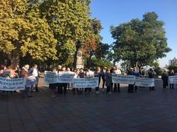 """Одесситы вышли на митинг против уничтожения санатория """"Молдова"""" (ФОТО)"""