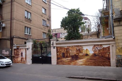 Старая Одесса запечатлена на старой стене (ФОТО)
