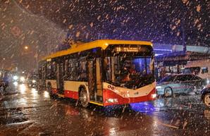 Первый снег выпал в Одессе (ФОТО)