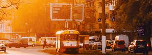 Одесские трамваи осенью (ФОТО)