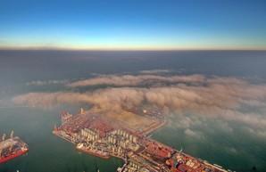 Зимняя Одесса: как туман уходит в море (ФОТО, ВИДЕО)