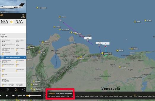 Из Венесуэлы резко возросли вылеты бизнес-джетов