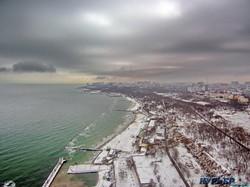 Одесса под снегом: полет над городом и морем (ФОТО, ВИДЕО)