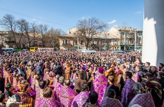 Московская церковь устроила акцию в Одессе и области
