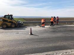 При ремонте автотрассы Киев – Одесса используют новую технологию