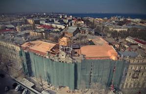 Как восстанавливают дом Руссова: смотрим с высоты птичьего полета (ФОТО, ВИДЕО)