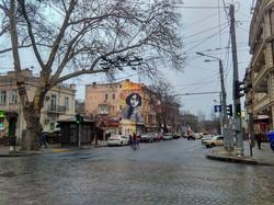 В Одессе появился гигантский портрет Веры Холодной (ФОТО)