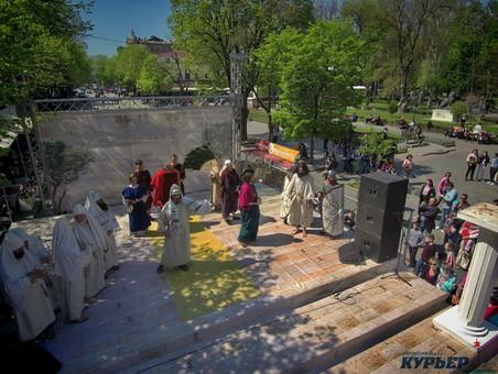 Одесская Пасхальная реконструкция: вид с высоты (ВИДЕО)