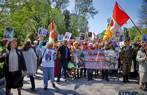 В Одессе на Аллее Славы сепаратисты хотели отдать город России и хотели быть вместе с Донбассом (ФОТО)