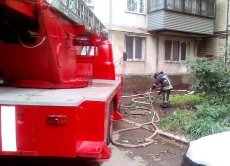 В Одессе горела девятиэтажка на посёлке Котовского