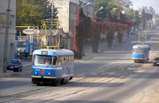 В Одессе трамвайный маршрут №21 временно заменяют автобусом