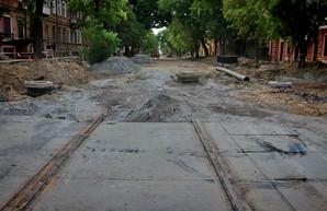Как в Одессе ремонтируют улицу Софиевскую (ФОТО)