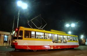 В Одессе маршрут трамвая на Большой Фонтан работает круглосуточно