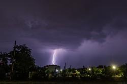 Ночью над Одессой прошла гроза: фото молний
