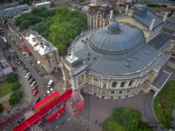 Красная дорожка Одесского кинофестиваля с высоты (ФОТО)