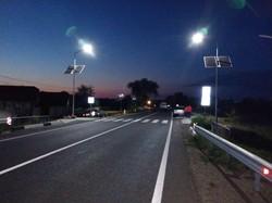 На дорогах Одесской области монтируют системы автономного освещения
