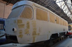 В «Одессгорэлектротрансе» завершили капитальный ремонт еще одного трамвая «Tatra»