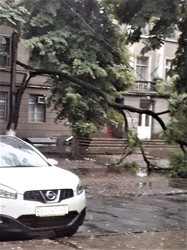Пик урагана в Одессе был вскоре после полуночи