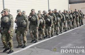 """Бойцы одесского спецбатальона """"Шторм"""" отправились в зону ООС"""