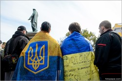 В Одессе снова протестовали против возможности капитуляции Украины перед Россией