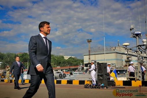 В Одессе президент Украины заявил о необходимости вывода российских войск с украинского Донбасса