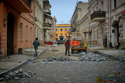 Как в Европе: в Одессе продолжается ремонт Воронцовского переулка (ФОТО)