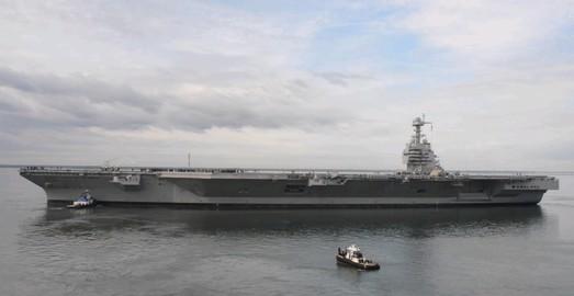 Авианосец ВМС США USS Gerald R. Ford снова в деле