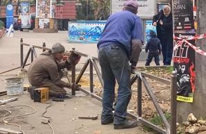 Парк Шевченко в Одессе защищают от автохамов (ФОТО)