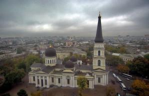 Туманная Одесса с высоты птичьего полета
