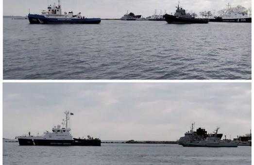 Захваченные Россией военные корабли вместо Одессы возвращают в Очаков