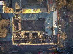 В сгоревшем доме Асвадурова рухнули перекрытия между этажами (ФОТО)