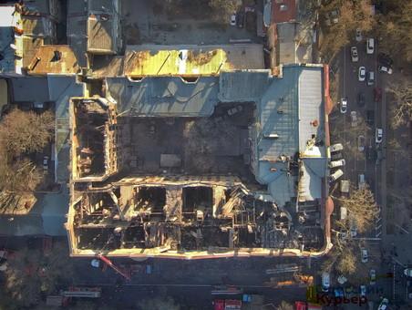 Сгоревший дом Асвадурова в Одессе укрепят металлом