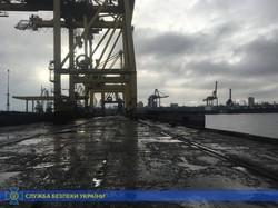 В СБУ заявили о присвоении 40 миллионов на ремонте причала в Черноморске