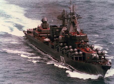 Россия перевела в Черное море ракетный крейсер с Северного флота