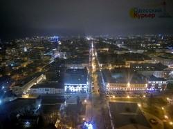 Новогодняя Одесса с квадрокоптера