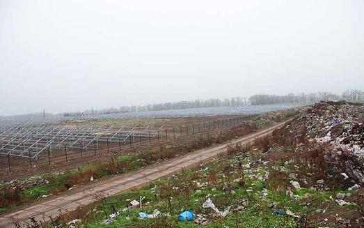 В Болграде строят солнечную электростанцию