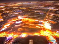 Необычная вечерняя Одесса с высоты полета беспилотника (ФОТО)
