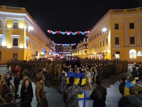 В Одессе сотни людей собрались отметить День Соборности Украины (ФОТО)