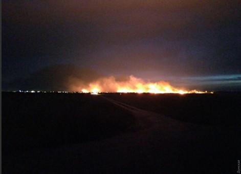 Огонь охватил 4,5 гектара в Одессе