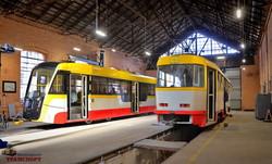 """В Одессе завершили сборку обычного шестого трамвая """"Одиссей"""" (ФОТО, ВИДЕО)"""