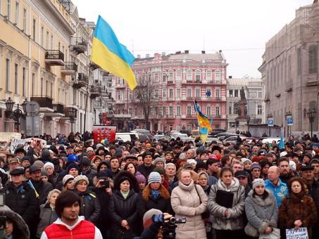 Как в Одессе выступили 2 марта против российской агрессии и Путина (ФОТО)