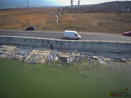 В «Укравтодоре» открестились от проблемной дамбы Хаджибейского лимана в Одессе