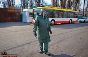 В Одессе начали дезинфицировать от коронавируса городской транспорт (ФОТО, ВИДЕО)