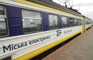 В Киеве останавливается городская электричка